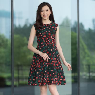 10 mẫu đầm hoạ tiết hoa dáng xòe đẹp nhất LOZA hè 2018