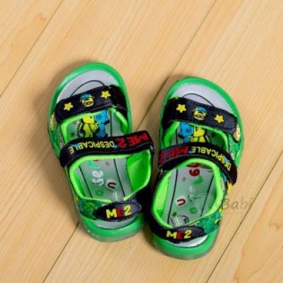 Giày sandan bé trai hình Minion có đèn